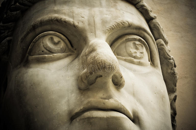 Cabeça do imperador Constantim, Capitólio, Roma foto de stock royalty free
