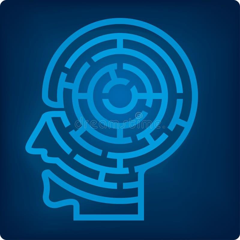 Cabeça do labirinto (vetor) ilustração royalty free