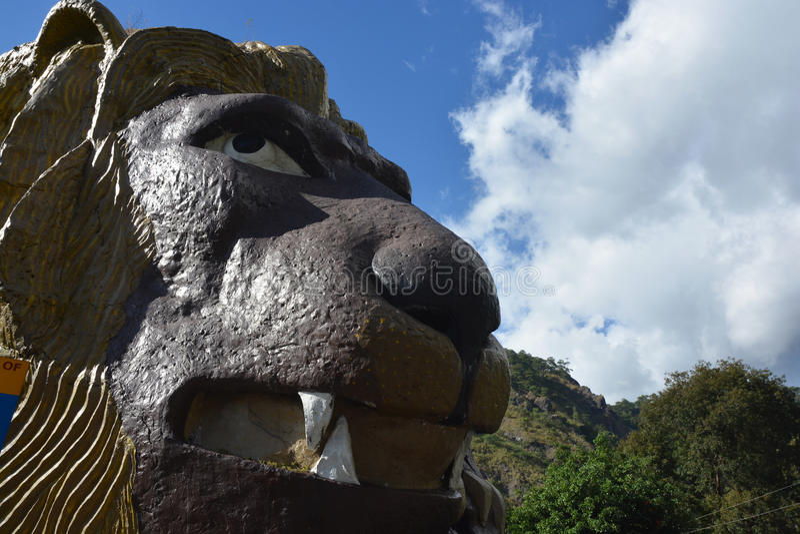 A cabeça do leão fotografia de stock