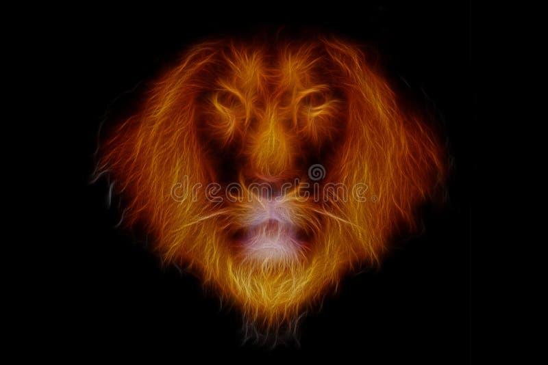 Cabeça do leão do fogo ilustração royalty free
