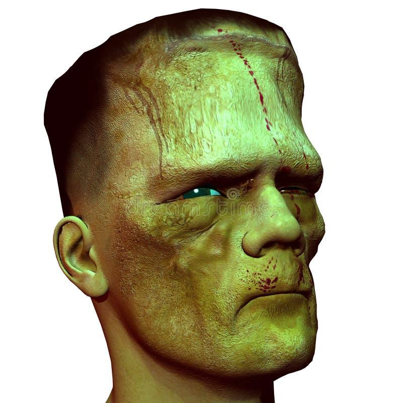 Cabeça do monstro do perfil da vista ilustração do vetor