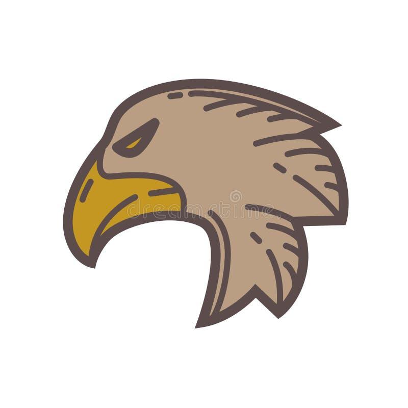 Cabeça do pássaro da águia ilustração do vetor