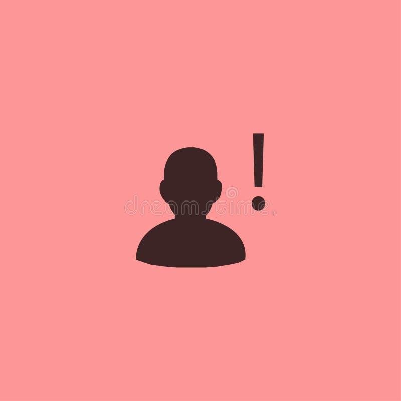 Cabeça do projeto do preto do ícone da exclamação foto de stock royalty free