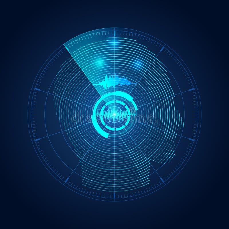 Cabeça do radar ilustração royalty free