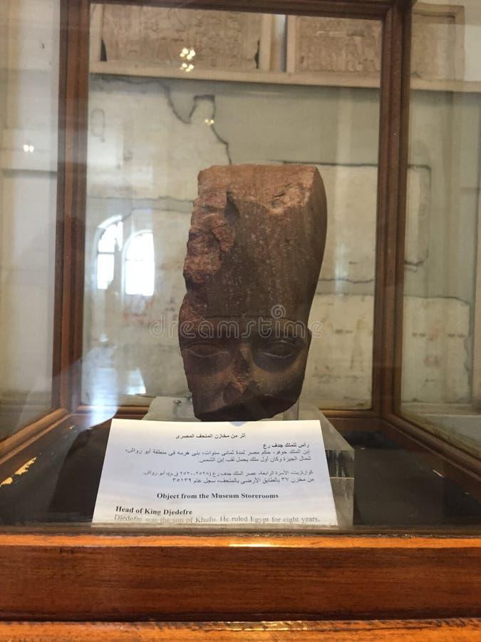 A cabeça do rei Djedefre, 4o dinastia imagem de stock