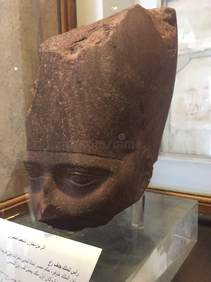 A cabeça do rei Djedefre, 4o dinastia fotografia de stock