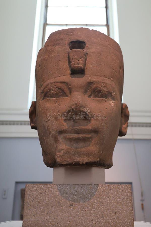 Cabeça do rei Thutmose Eu, British Museum foto de stock royalty free
