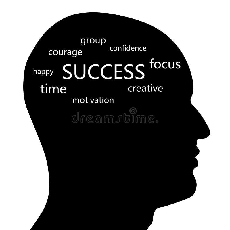 Cabeça do sucesso ilustração do vetor