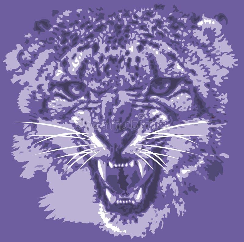 Cabeça do tigre da cor ilustração royalty free
