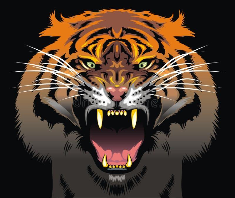 Cabeça do tigre da cor ilustração do vetor