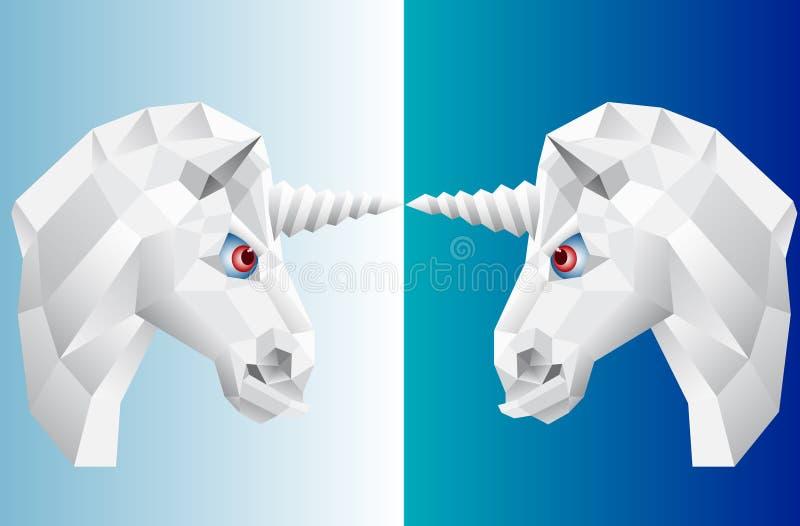 A cabeça do unicórnio ilustração stock