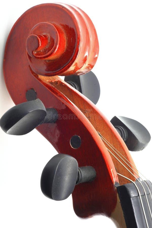 Cabeça do violino imagem de stock
