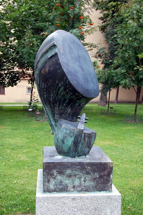 Cabeça do violino sculpture fotografia de stock royalty free
