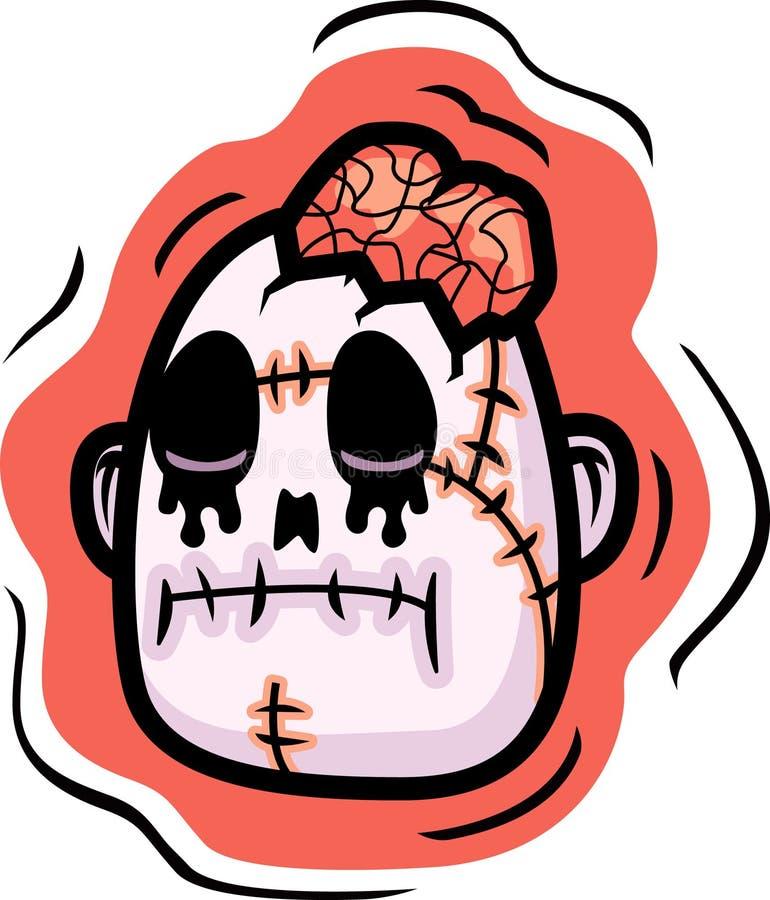 Cabeça do zombi ilustração royalty free