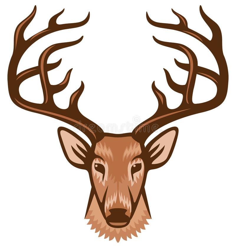 Cabeça dos cervos ilustração do vetor