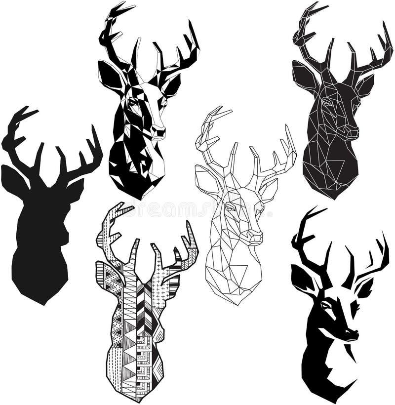 Cabeça dos cervos ilustração royalty free