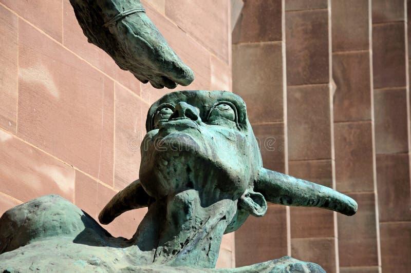A cabeça dos diabos, Coventry fotografia de stock