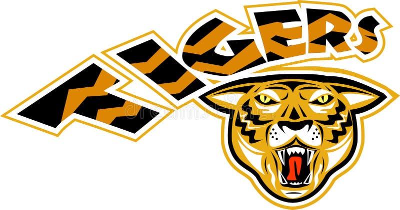 Cabeça dos tigres ilustração royalty free