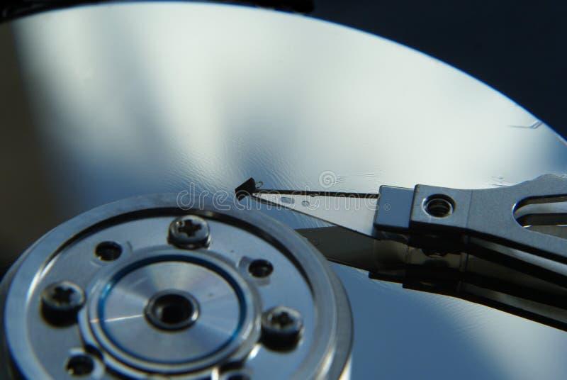 Cabeça e disco de movimentação dura fotografia de stock