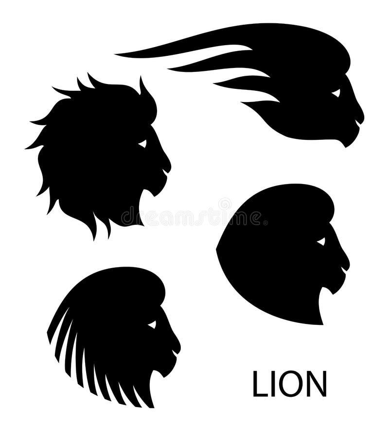 Cabeça estilizado do leão - ilustração do vetor ilustração do vetor