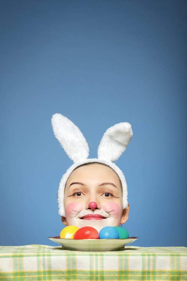 Cabeça feliz do coelho imagens de stock royalty free
