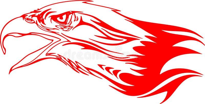 Cabeça flamejante 3 da águia ilustração stock