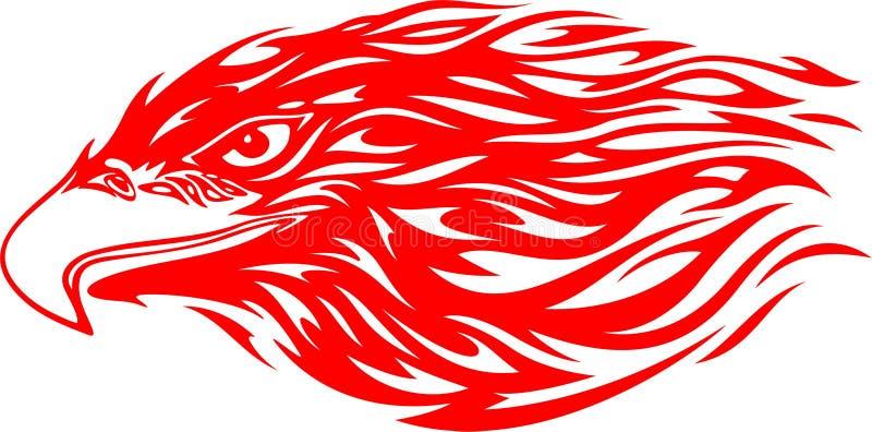 Cabeça flamejante 4 da águia ilustração do vetor