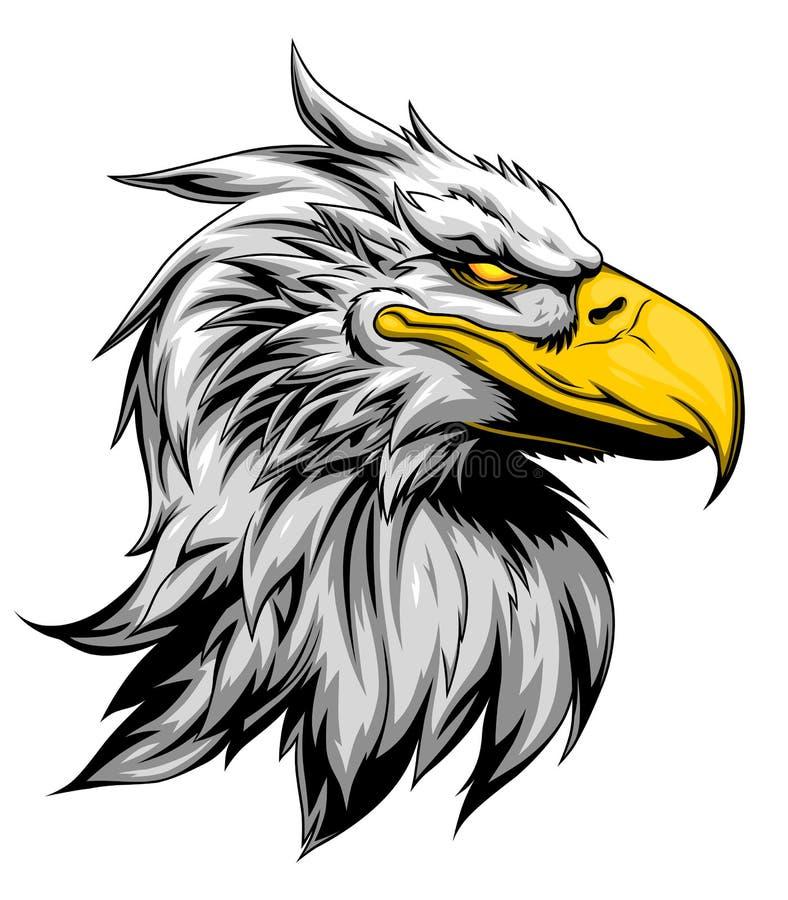 Cabeça forte da águia ilustração stock
