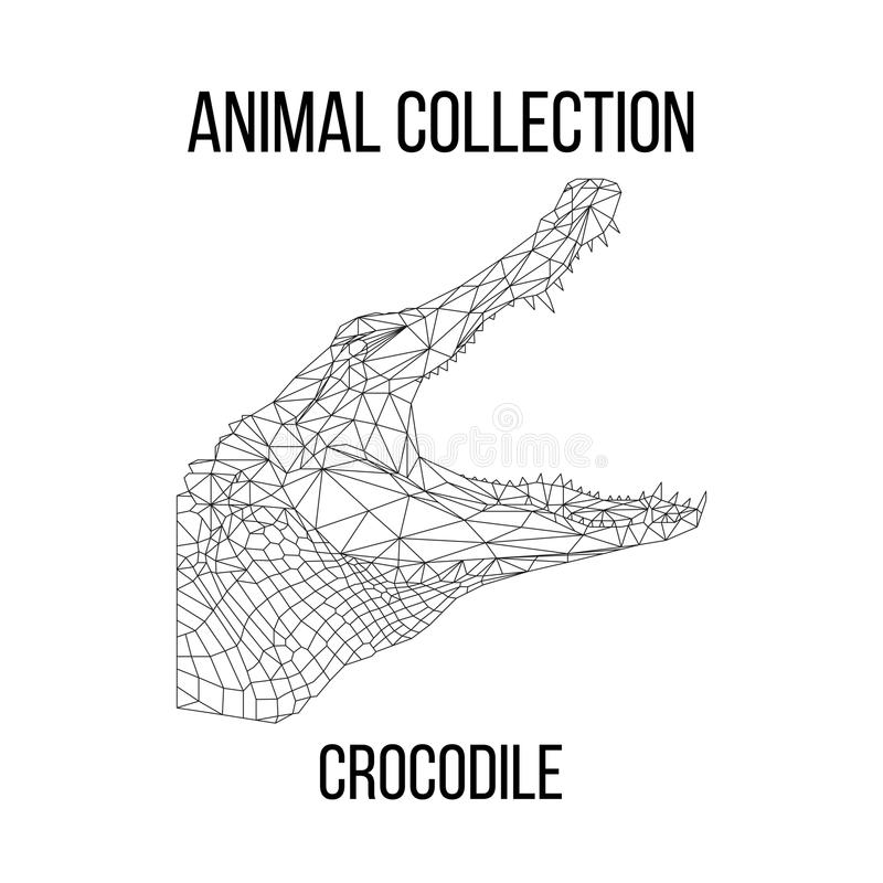 Cabeça geométrica do crocodilo fotografia de stock royalty free