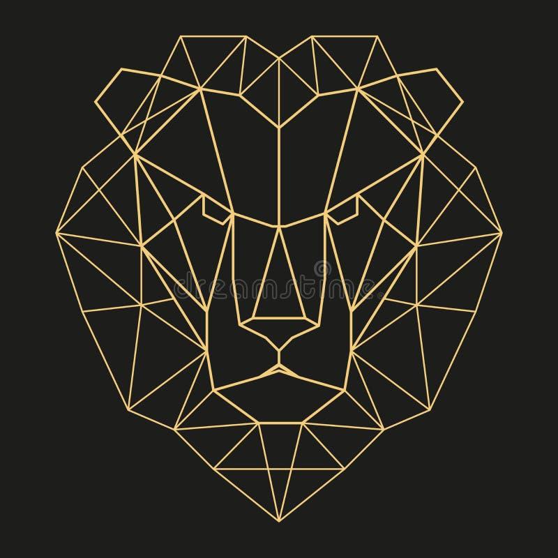 Cabeça geométrica do leão fotos de stock royalty free