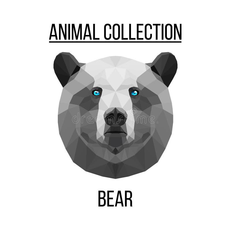 Cabeça geométrica do urso fotos de stock