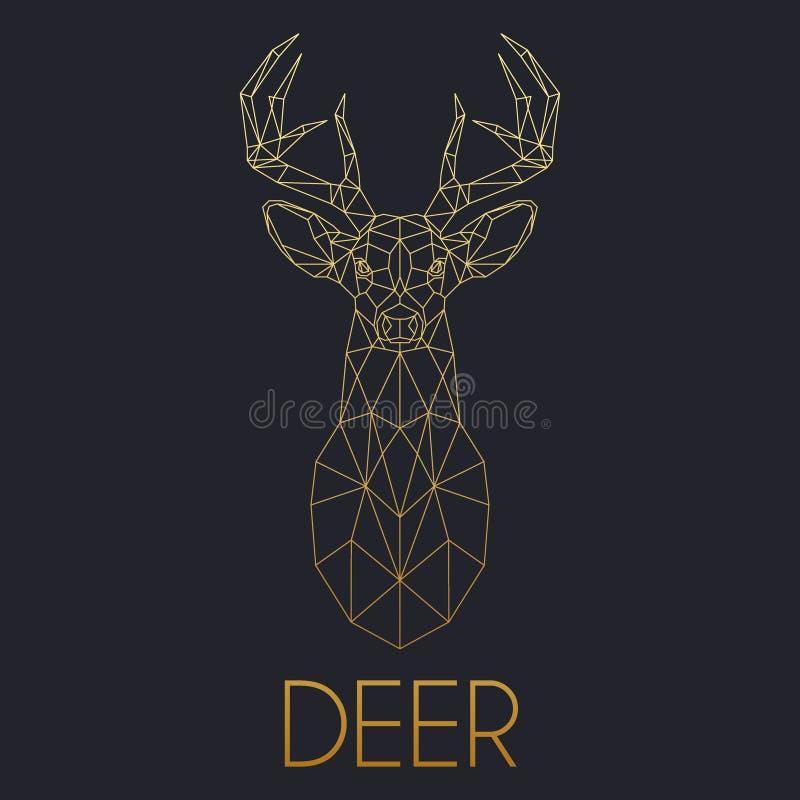 Cabeça geométrica dos cervos fotografia de stock royalty free