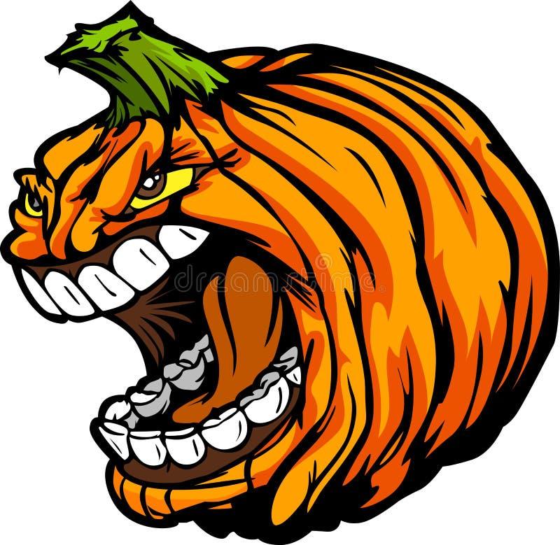 Cabeça gritando da abóbora da Jack-O-Lanterna de Halloween ilustração stock