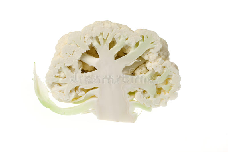 Cabeça Halved da couve-flor imagens de stock