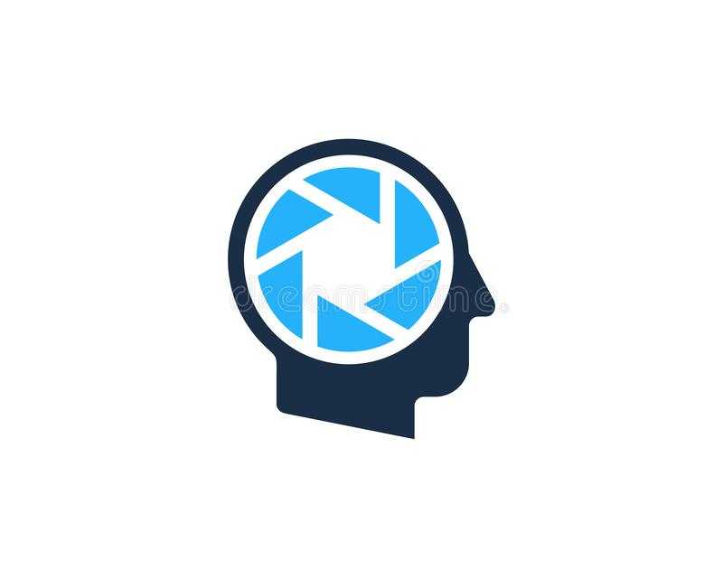 Cabeça humana Logo Icon Design da lente ilustração do vetor