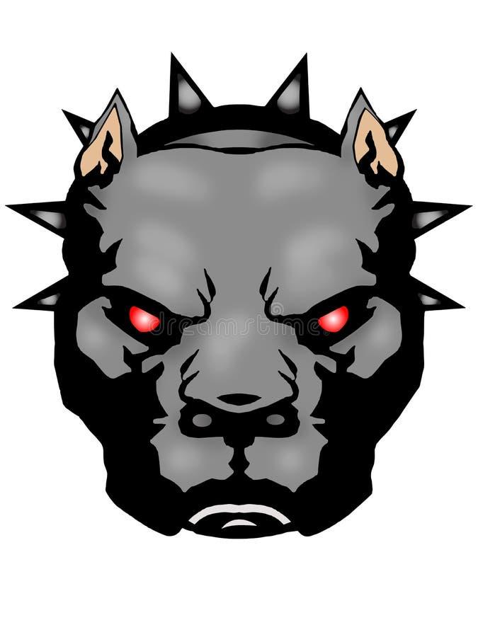 Cabeça irritada do pitbull ilustração stock
