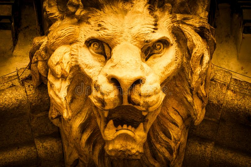 Cabeça Leão-dada forma do demônio fotos de stock