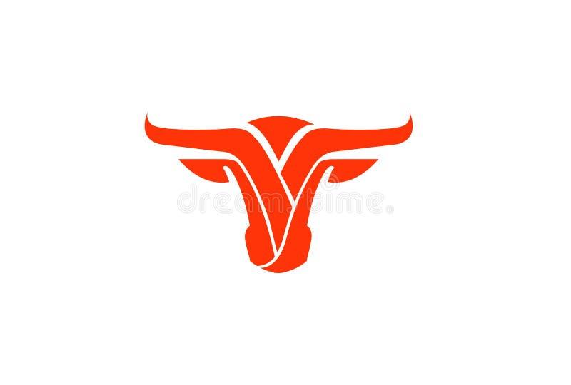Cabeça Logo Symbol Logo do búfalo ilustração stock