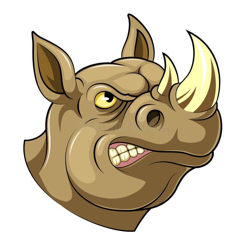 Cabeça orgulhosa do rinoceronte ilustração royalty free