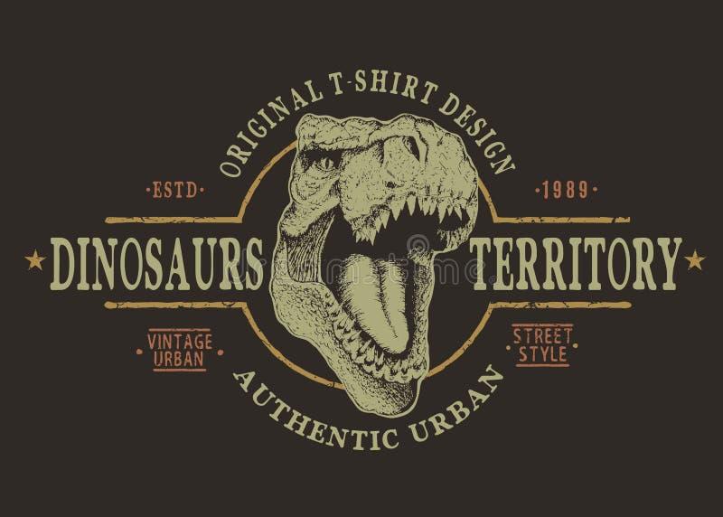Cabeça perigosa do tyranosaur ilustração do vetor