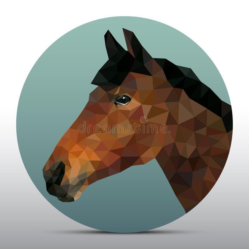 Cabeça poligonal do cavalo fotografia de stock royalty free