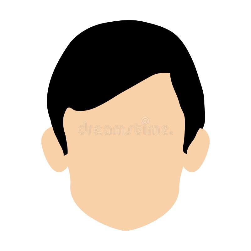 cabeça sem cara do ícone do homem ilustração royalty free