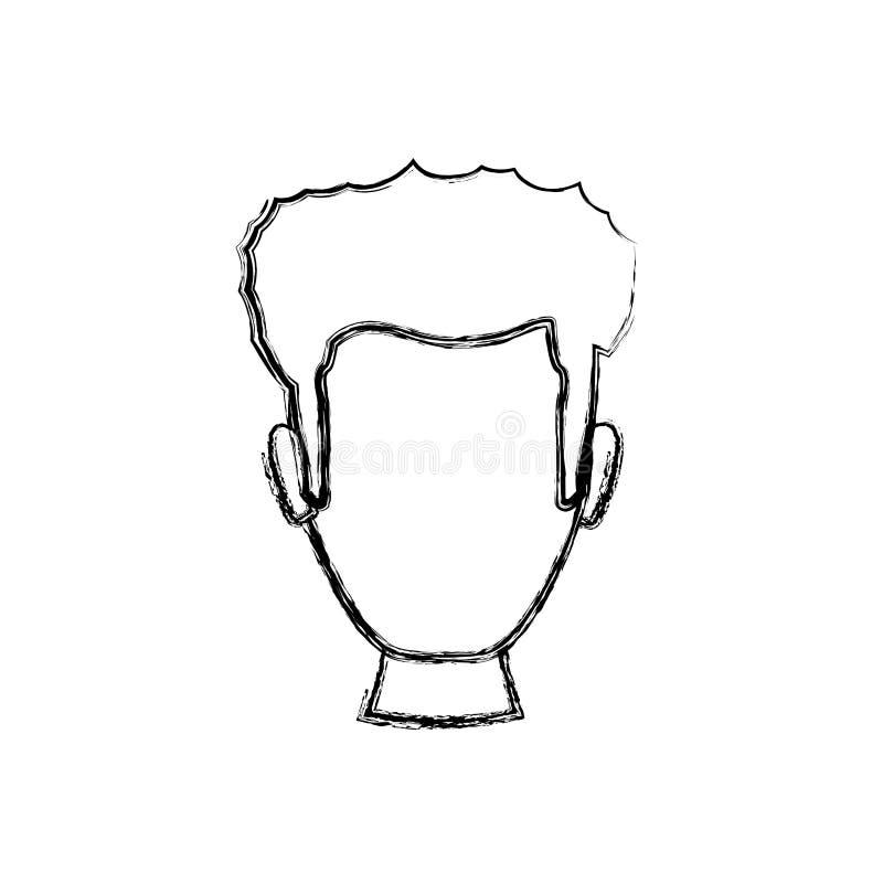 Cabeça sem cara do homem ilustração royalty free
