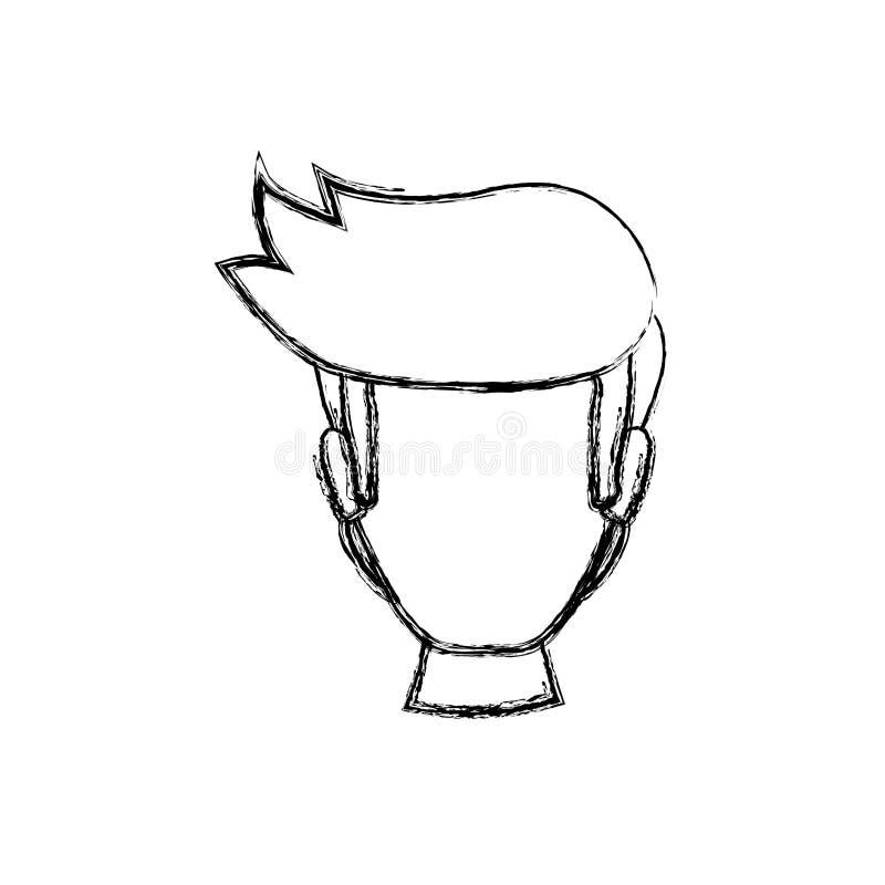 Cabeça sem cara do homem ilustração stock