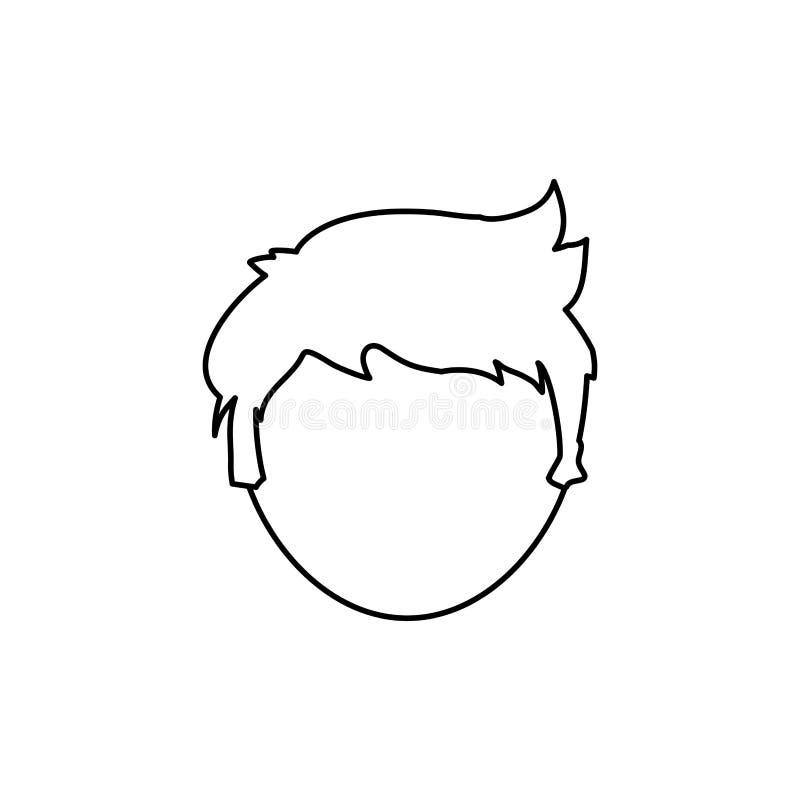 Cabeça sem cara do homem ilustração do vetor