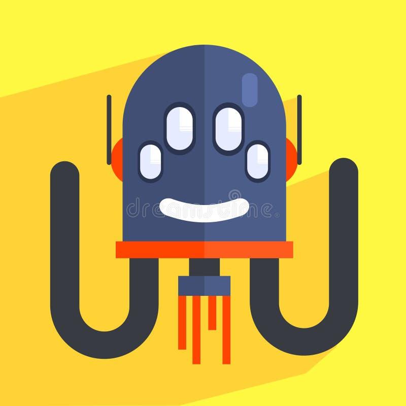 Cabeça separada robô Charcter ilustração do vetor