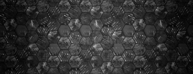 Cabeça sextavada suja escura do Web site da textura da telha foto de stock royalty free