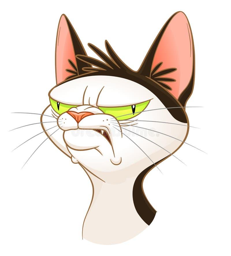 Cabeça sombrio do gato ilustração do vetor