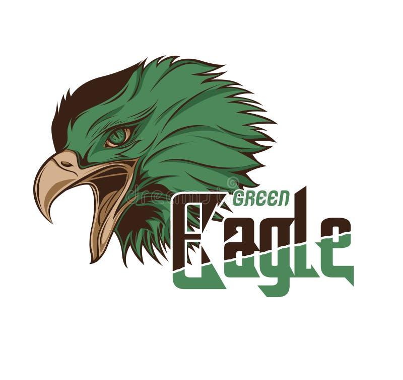 Cabeça verde Eagle Vetora Art imagem de stock royalty free