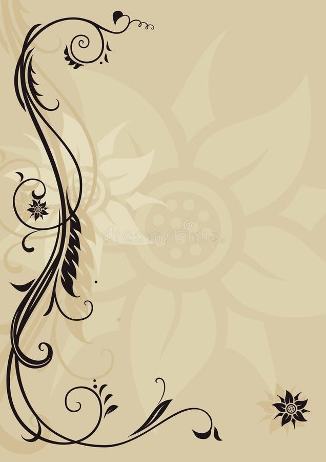Cabeçalho decorativo ilustração stock